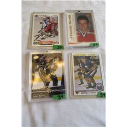 Tyler Myers (Rookie) Upperdeck, Dany Heatley (Rookie) O-Pee-Chee, Keith Thachuk (Rookie) Upperdeck,