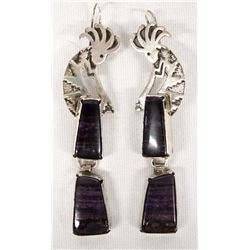 Native American Navajo Sterling Sugilite Earrings