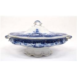 Edge Malkin & Co. Ltd. Burslem Cobalt Blue Tureen
