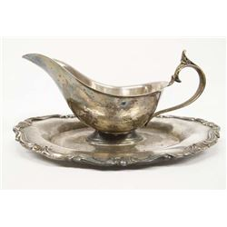 1883 FB Rogers Silver Plate Gravy Boat Spill Tray