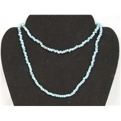 Antique Blue Bead Necklace