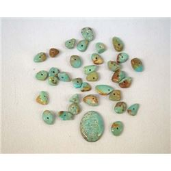 Natural Demale Turquoise Cabochon Plus Beads