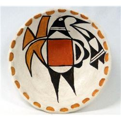 Native American Acoma Polychrome Shallow Bowl