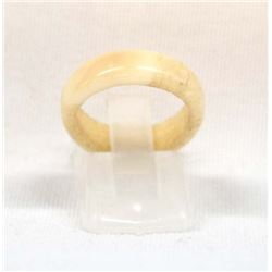 Estate Carved Bone Ring, Size 6