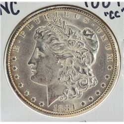 "1884 ""CC"" Uncirculated Morgan Silver Dollar"