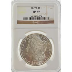 "1879 ""S"" NGC MS67 Morgan"