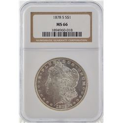 "1878 ""S"" MS66 Morgan"