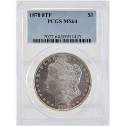 1878 8 Tail Feather PCGS MS64 United States Morgan Silver Dollar
