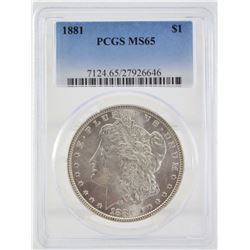 1881 PCGS MS65 United States Morgan Silver Dollar