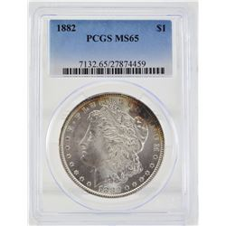1882 PCGS MS65  United States Morgan Silver Dollar