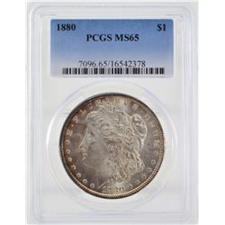 1880 PCGS MS65 United States Morgan Silver Dollar