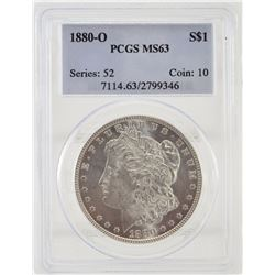 "1880 ""O"" PCGS MS63 United States Morgan Silver Dollar"