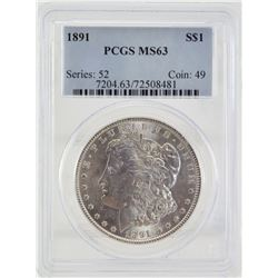 891 PCGS MS63 United States Morgan Silver Dollar
