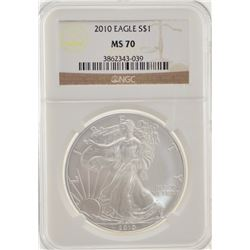 2010 NGC MS70 American Silver Eagle