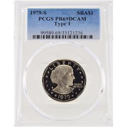 "1979 ""S"" PCGS PR69 DCAm Type 1 Susan B Anthony Dollar"