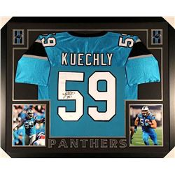 Luke Keuchly Signed Panthers 35x43 Custom Framed Jersey (JSA COA)