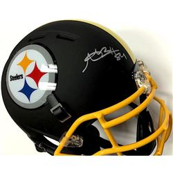 Antonio Brown Signed Steelers Custom Matte Black Full-Size Authentic Proline Helmet (JSA COA)
