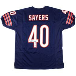 "Gale Sayers Signed Bears Jersey Inscribed ""HOF 77"" (JSA COA)"
