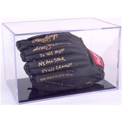 Reggie Jackson Signed Rawlings Full-Size Pro Model Baseball Glove with (3) Career Stat Inscriptions