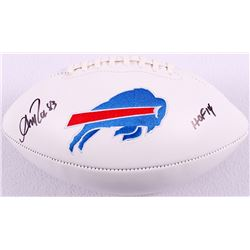 "Andre Reed Signed Bills Logo Football Inscribed ""HOF '14"" (JSA COA)"