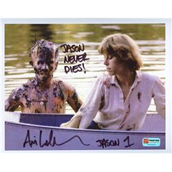 "Ari Lehman Signed ""Friday the 13th"" 8x10 Photo Inscribed ""Jason Never Dies!"" & ""Jason 1"" (PA COA)"