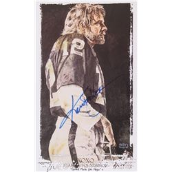 "Ken Stabler Signed Raiders XOXO Stabler Foundation ""Game Plan for Hope"" 12"" x 20"" Lithograph (Stable"