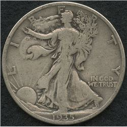1935-S Walking Liberty Silver Half Dollar