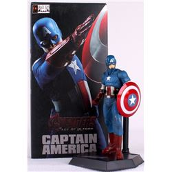 "Stan Lee Signed ""Captain America"" High Quality Marvel 9"" Action Figure with Original Box (PSA COA)"