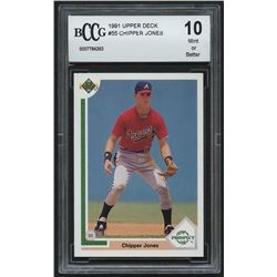 Chipper Jones 1991 Upper Deck #55 RC (BCCG 10)