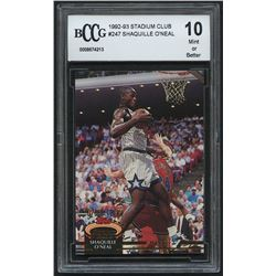 Shaquille O'Neal 1992-93 Stadium Club #247 RC (BCCG 10)