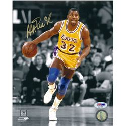 Magic Johnson Signed Lakers 8x10 Photo (PSA COA)