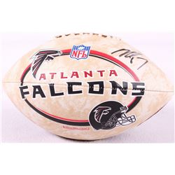 Michael Vick Signed Falcons Logo Football (Vick Hologram)