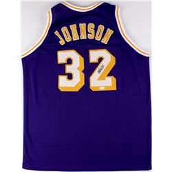 Magic Johnson Signed Lakers Jersey (JSA COA)