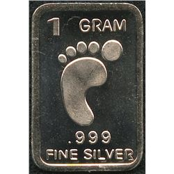 1 Gram .999 Silver Padfoot Bullion Bar