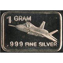 1 Gram .999 Silver F-35 Fighter Bullion Bar