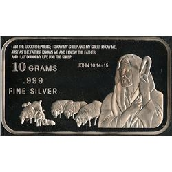 10 Grams .999 Silver John 10:14-15 Bullion Bar