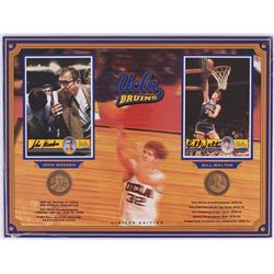 Bill Walton & John Wooden Signed UCLA 12x16 Limited Edition Display with Bronze Coins (Optimum Group