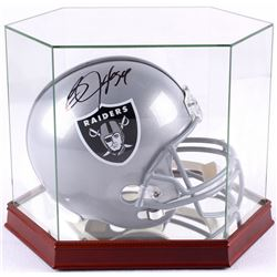 Bo Jackson Signed Raiders Full-Size Helmet with High Quality Display Case (JSA COA)