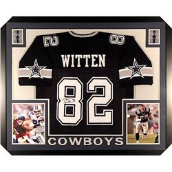 Jason Witten Signed Cowboys 35x43 Custom Framed Jersey (JSA COA)