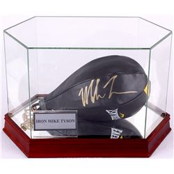 Mike Tyson Signed Leather Everlast Speed Bag with High Quality Display Case (JSA COA)