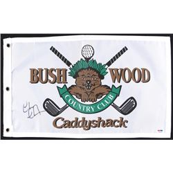"Chevy Chase Signed Bushwood Coutry Club ""Caddyshack"" Golf Flag (PSA COA)"