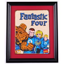 "Stan Lee Signed ""Fantastic Four"" 18x22 Custom Framed Sheet Metal Display (PSA COA)"