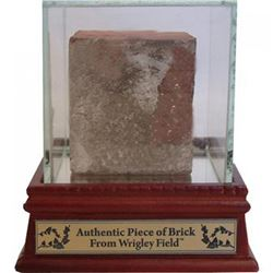 Authentic Brick From Wrigley Field with Display Case (Steiner COA)