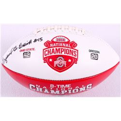 Ezekiel Elliott Signed 2014 National Champions Ohio State Logo Football (JSA COA)