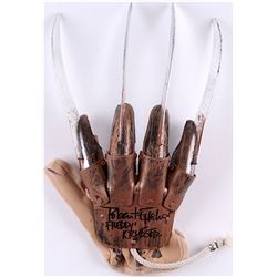 "Robert Englund Signed ""A Nightmare on Elm Street"" Freddy Krueger High Quality Replica Glove Inscribe"