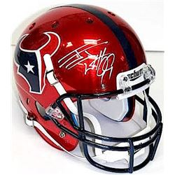 J.J. Watt Signed Texans Full-Size Red Chrome Helmet (JSA COA)