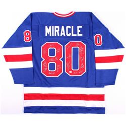 "1980 Team USA Hockey ""Miracle on Ice"" Jersey Signed by (19) with Mike Eruzione, Jim Craig, Ken Morro"
