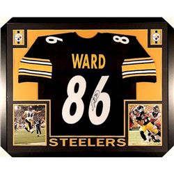 Hines Ward Signed Steelers 35x43 Custom Framed Jersey (JSA COA)