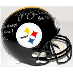 "Jack Lambert Signed Steelers Full-Size Helmet Inscribed ""HOF 90"" & ""I Will Always Bleed Black & Gold"