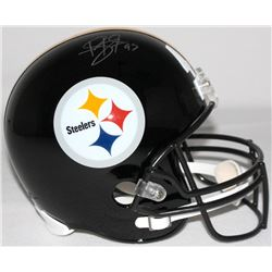 Troy Polamalu Signed Steelers Full-Size Helmet (TSE COA & JSA COA)